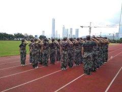 江门台城希望学校新学生军训训练
